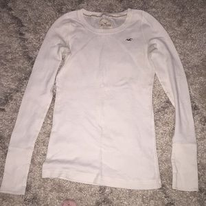 Hollister stretch waffle long sleeve thermal tee